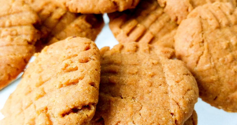 Peanut butter cookies with shredded coconut