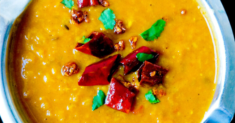 Indian dal tadka (easy yellow lentil curry)