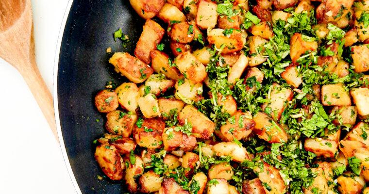 Lebanese fried potatoes with cilantro and garlic – Batata Harra