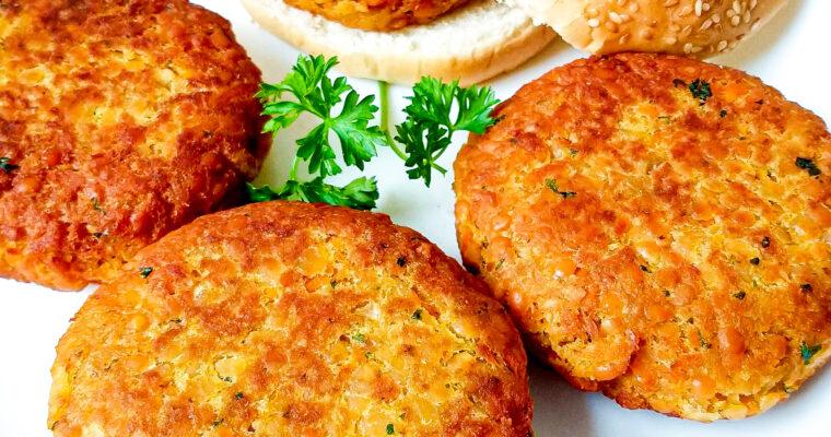Red lentil burgers recipe